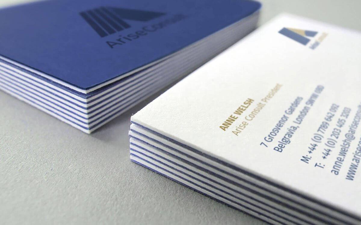Duplexed + Spot UV Business Card