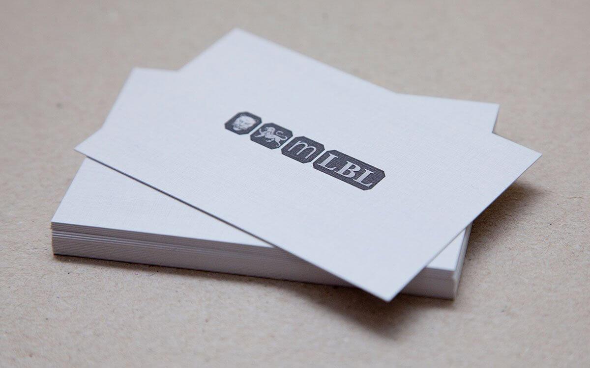 Custom Debossed Business Card