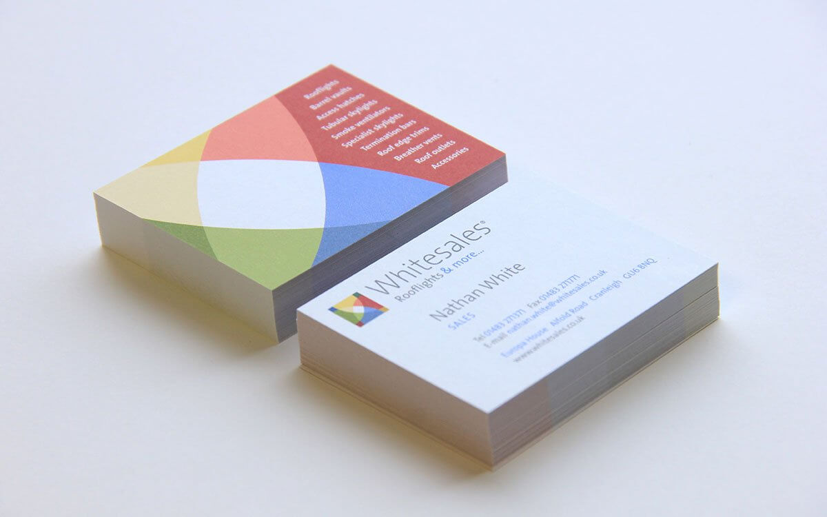 Colourful Uncoated Business Cards