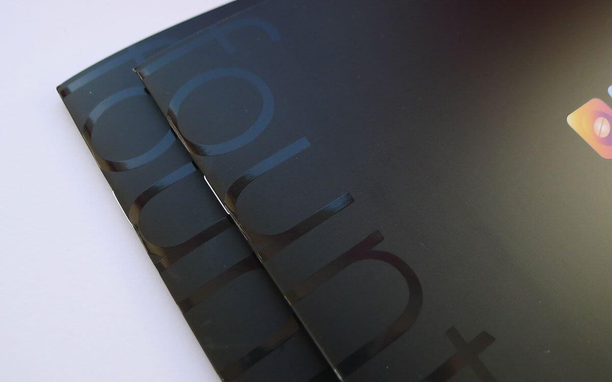 Spot UV + Matt Laminate Brochure