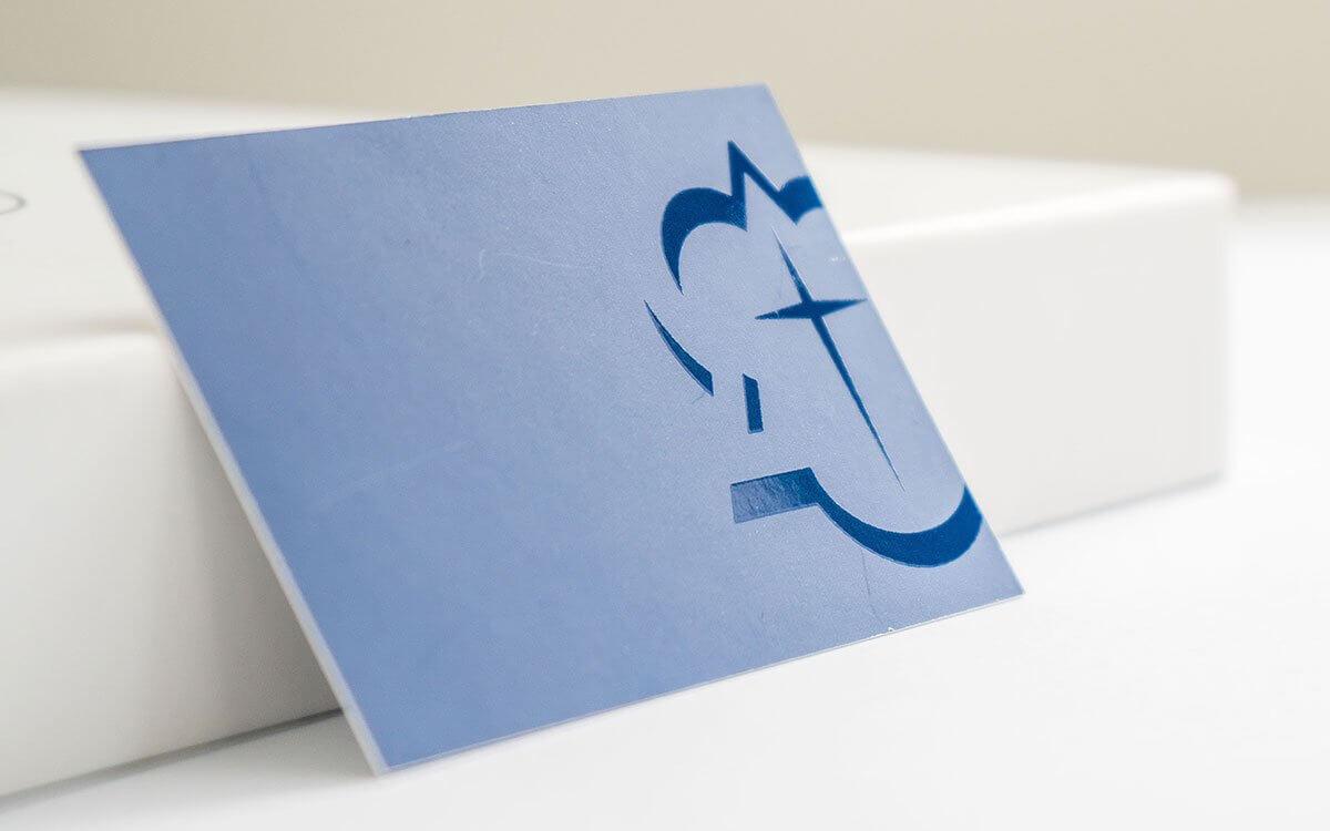 Spot UV, Matt Laminated Business Card
